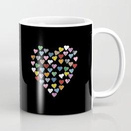 Distressed Hearts Heart Black Coffee Mug