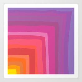 Vivid Vibrant Geometric Rainbow Art Print
