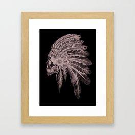 Indian Chief Skull Framed Art Print