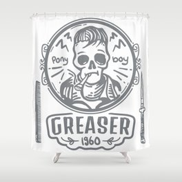 Greaser I Shower Curtain