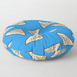 Fairy Bread in Blue, Aussie 90s birthday party Floor Pillow