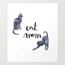 Cat mom illustration Art Print