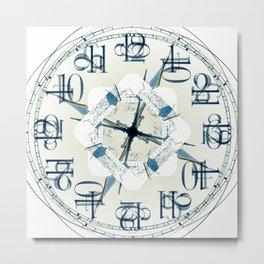 Kaleidoscope Clock by Matty Christo Photography Metal Print