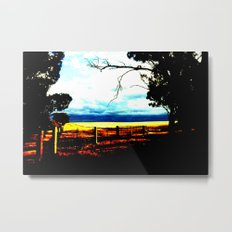 Storm clouds over wheat Fields Metal Print
