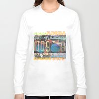 florida Long Sleeve T-shirts featuring Florida by Vivian Fortunato