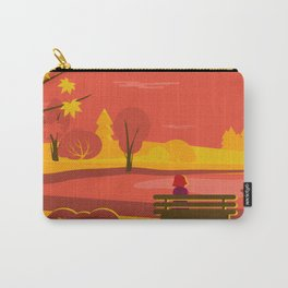 A flat autumn scene Carry-All Pouch