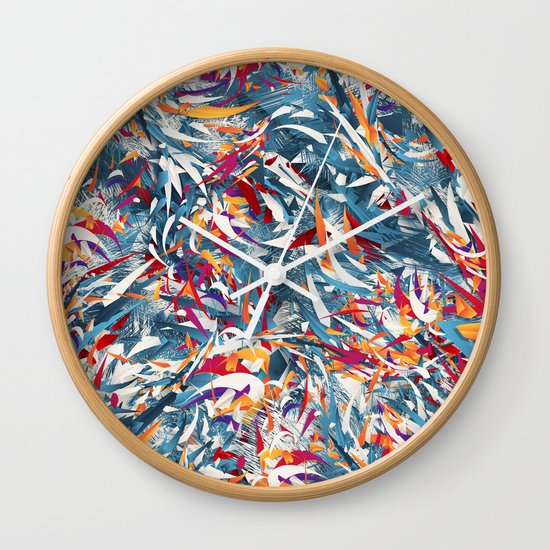 Excited Colours Wall Clock