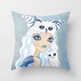 Owl Duchess Throw Pillow