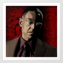 Breaking Bad Illustrated - Gustavo Fring Art Print
