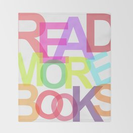 READ MORE BOOKS Throw Blanket