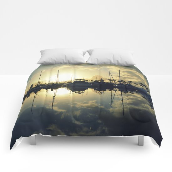 marina morning Comforters
