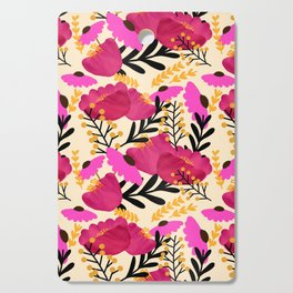 Vibrant Floral Wallpaper Cutting Board