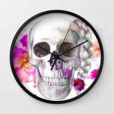 Braided Skull Wall Clock