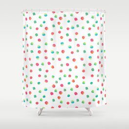 Happy Dots Shower Curtain