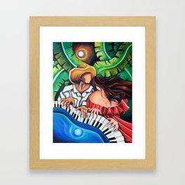Blue piano Framed Art Print