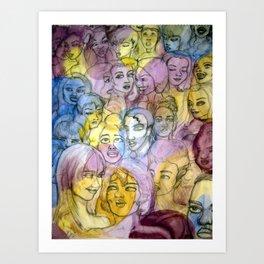 Herror Crowds Art Print