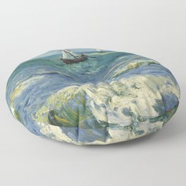 Seascape near Les Saintes-Maries-de-la-Mer Floor Pillow