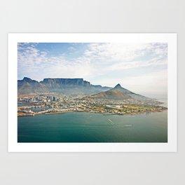 Cape Town aerial view Art Print