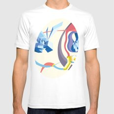 Diamonds, Hoses, Stairs, and Light Mens Fitted Tee White MEDIUM