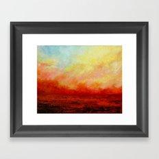 SUNSET FIERY Framed Art Print