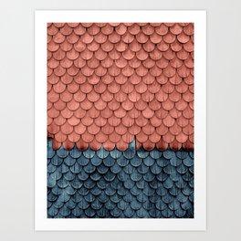 SHELTER / Little Boy Blue / Blooming Dahlia Art Print