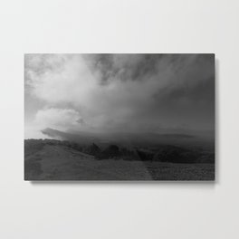 Misty Malvern Hills Metal Print