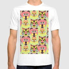 Modular Lions and Tigers and Bears. Mens Fitted Tee MEDIUM White