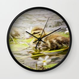Ducklings Wall Clock
