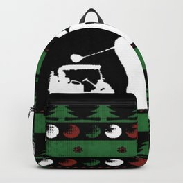Christmas golf and golf cart Backpack