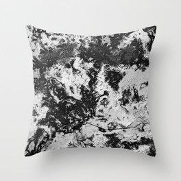 Marble Black & White Throw Pillow