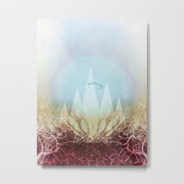 TREES under MAGIC MOUNTAINS VI-A Metal Print