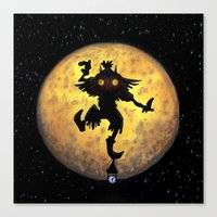 majora Canvas Prints featuring majora mask by neutrone
