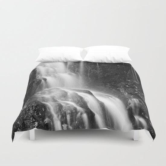 Avalon Falls - Black & White Duvet Cover