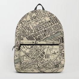 Vintage Map of Glasgow Scotland (1872) Backpack