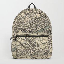 Vintage Map of Glasgow Scotland (1872) Backpack