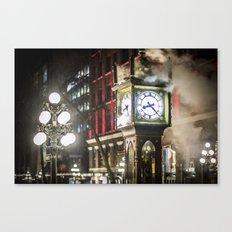 Steam Clock  Canvas Print