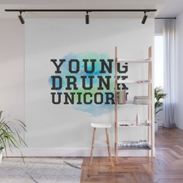 Young Drunk Unicorn - Design Wall Mural