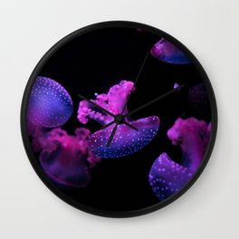 Pink Jelly Fish Wall Clock