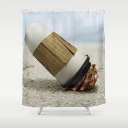Hermit Coffee Shower Curtain