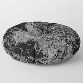 El Paso Black Map Floor Pillow