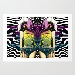 Vulture (Debbie Harry of Blondie) pop art Art Print