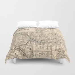 1906 Map of Atlanta, GA Duvet Cover