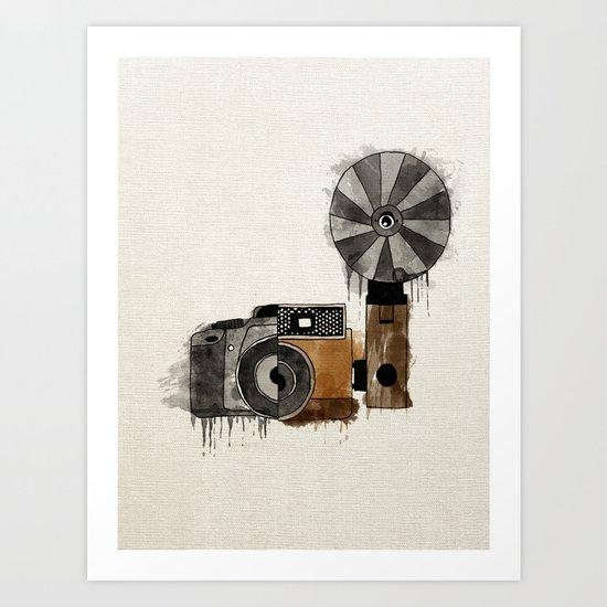 Camera Evolution Art Print