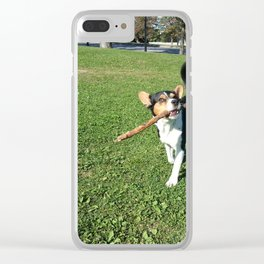 Wallace with Stick Clear iPhone Case