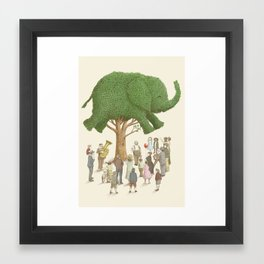 The Night Gardener - Elephant Tree Framed Art Print