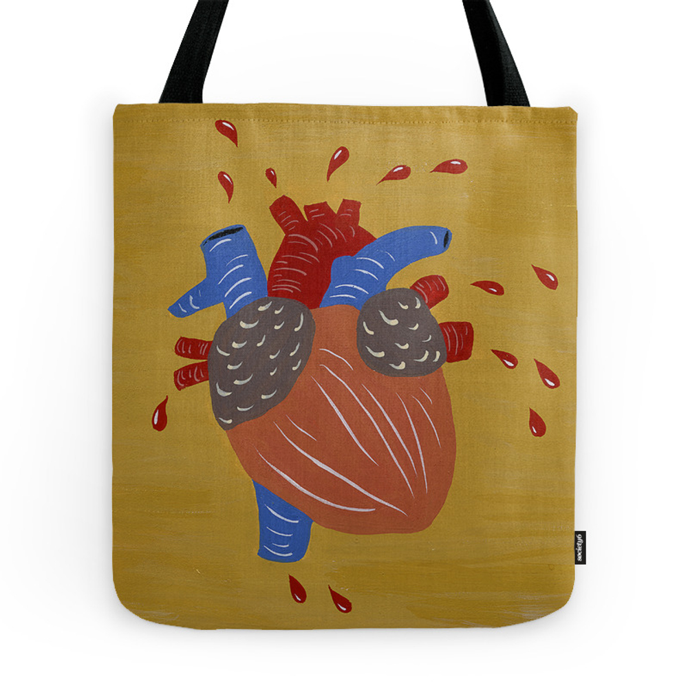 Show Some Heart Tote Purse by josephinekahng (TBG7927962) photo
