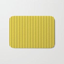 Buttercup and Black Stripes Bath Mat