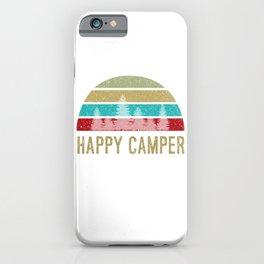 Happy Camper Shirt Retro Distressed iPhone Case