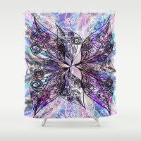 batik Shower Curtains featuring Batik by Crimsonblossom