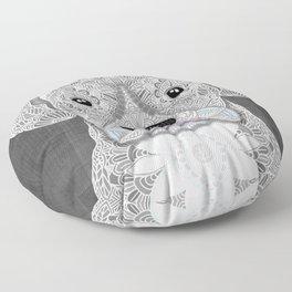 White Boxer Floor Pillow